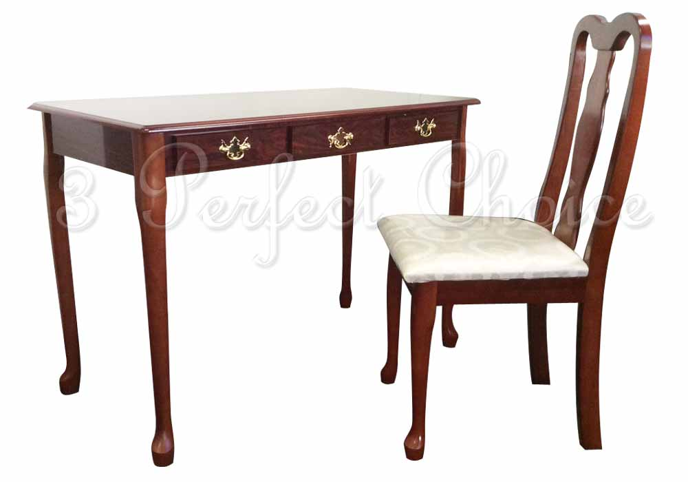 Cherry Finish Writing Desk And Chair Set Desk Ideas And